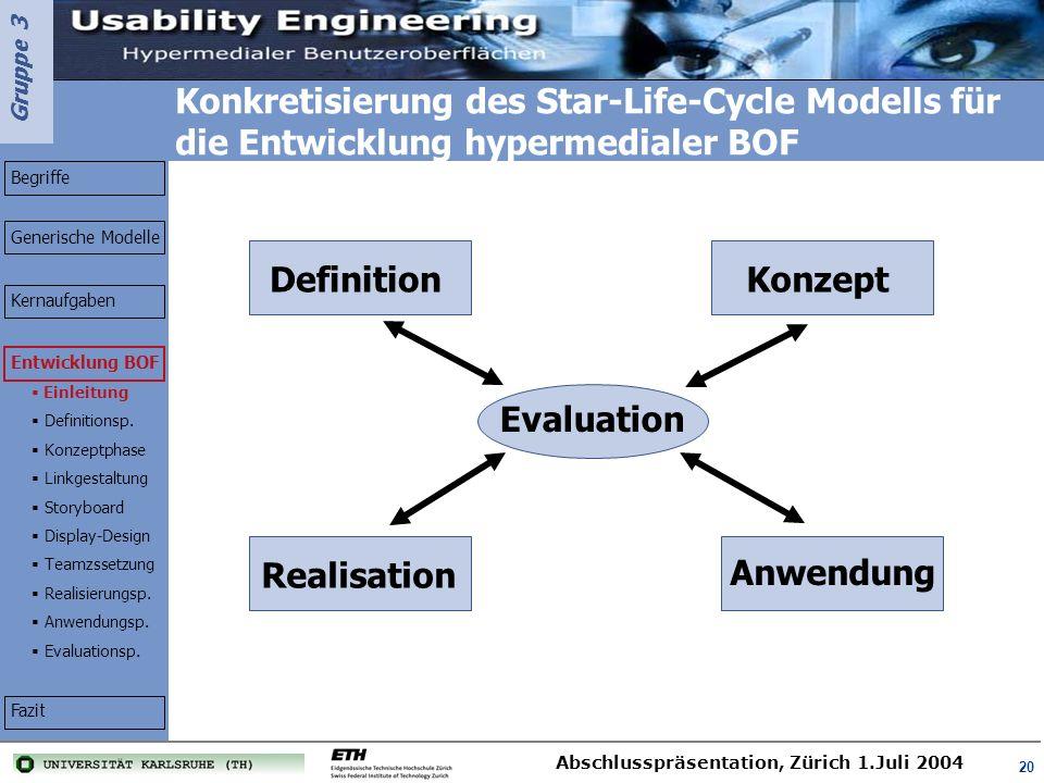 Konkretisierung des Star-Life-Cycle Modells für die Entwicklung hypermedialer BOF