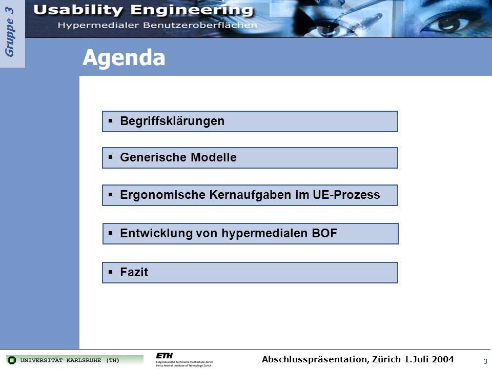 Agenda Begriffsklärungen Generische Modelle