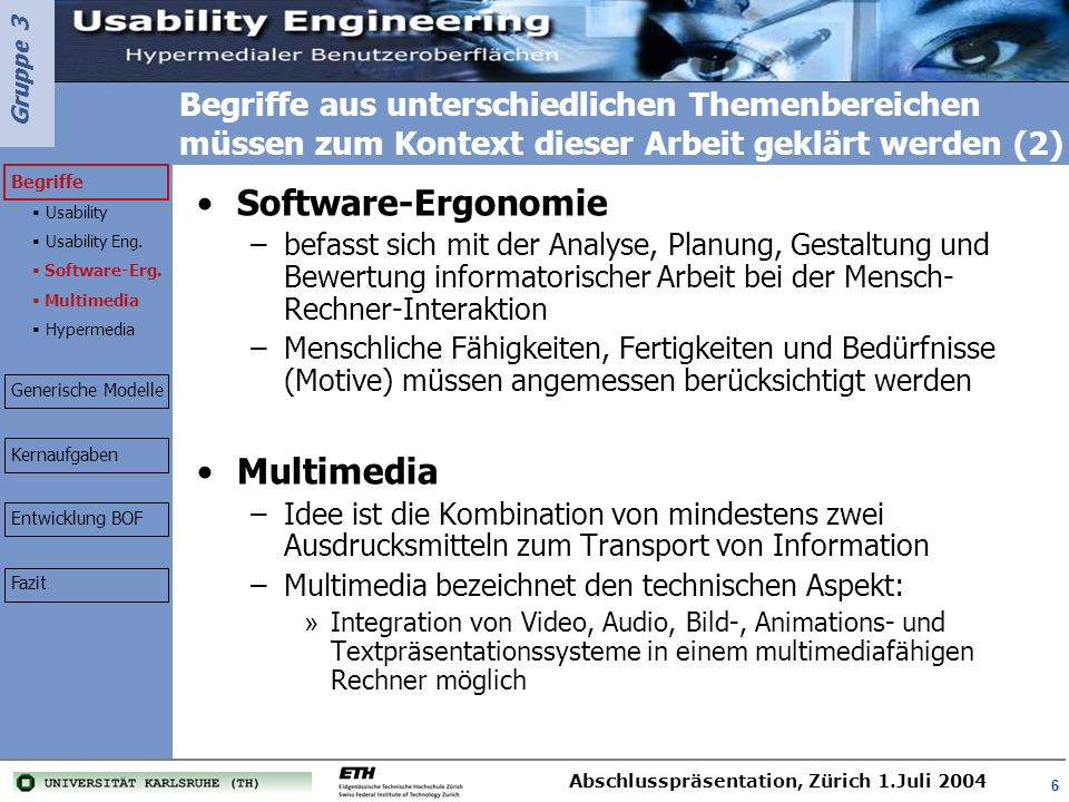 Software-Ergonomie Multimedia