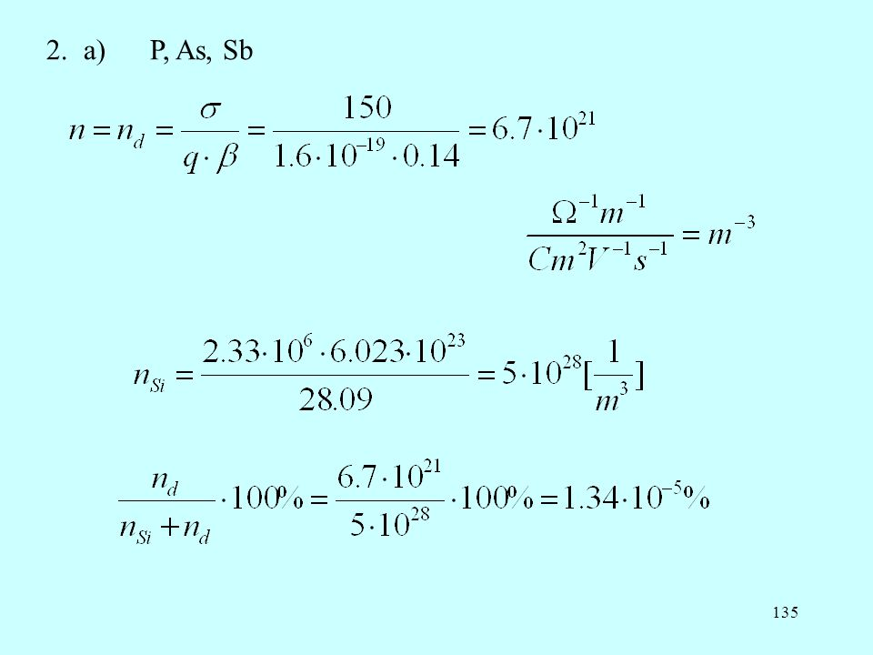 2. a) P, As, Sb