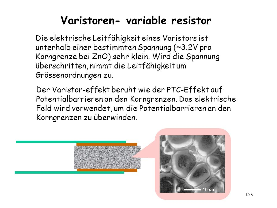 Varistoren- variable resistor