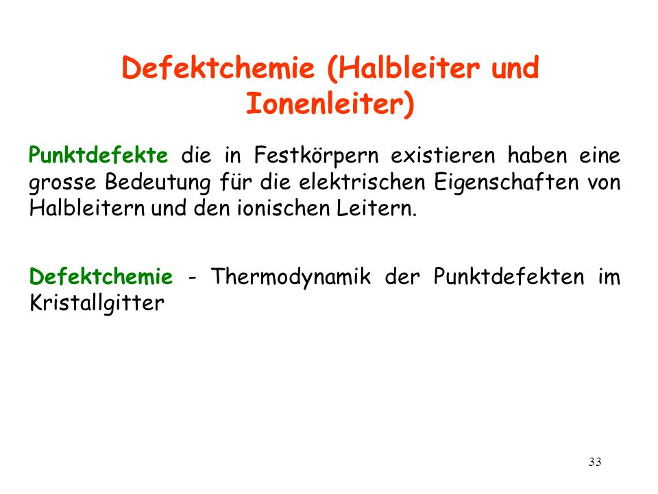 Defektchemie (Halbleiter und Ionenleiter)