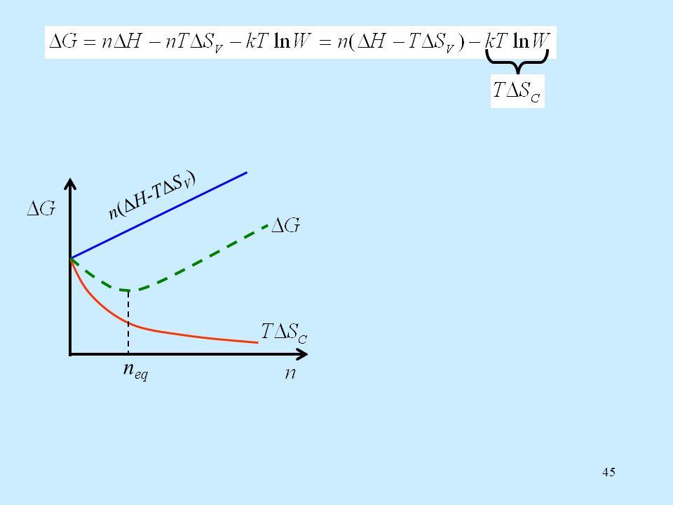 n(ΔH-TΔSV) neq n(ΔH-TΔSV) n(ΔH-TΔSV) neq neq