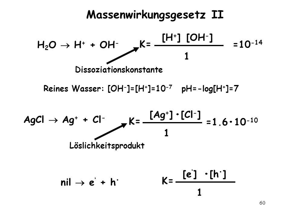Massenwirkungsgesetz II