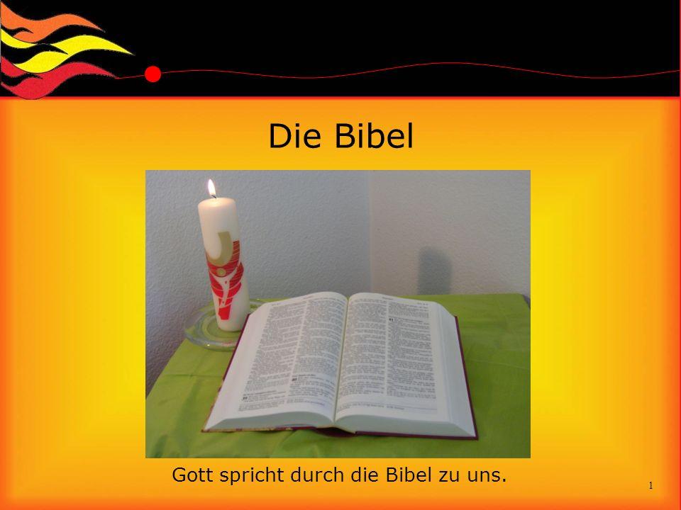 Gott spricht durch die Bibel zu uns.