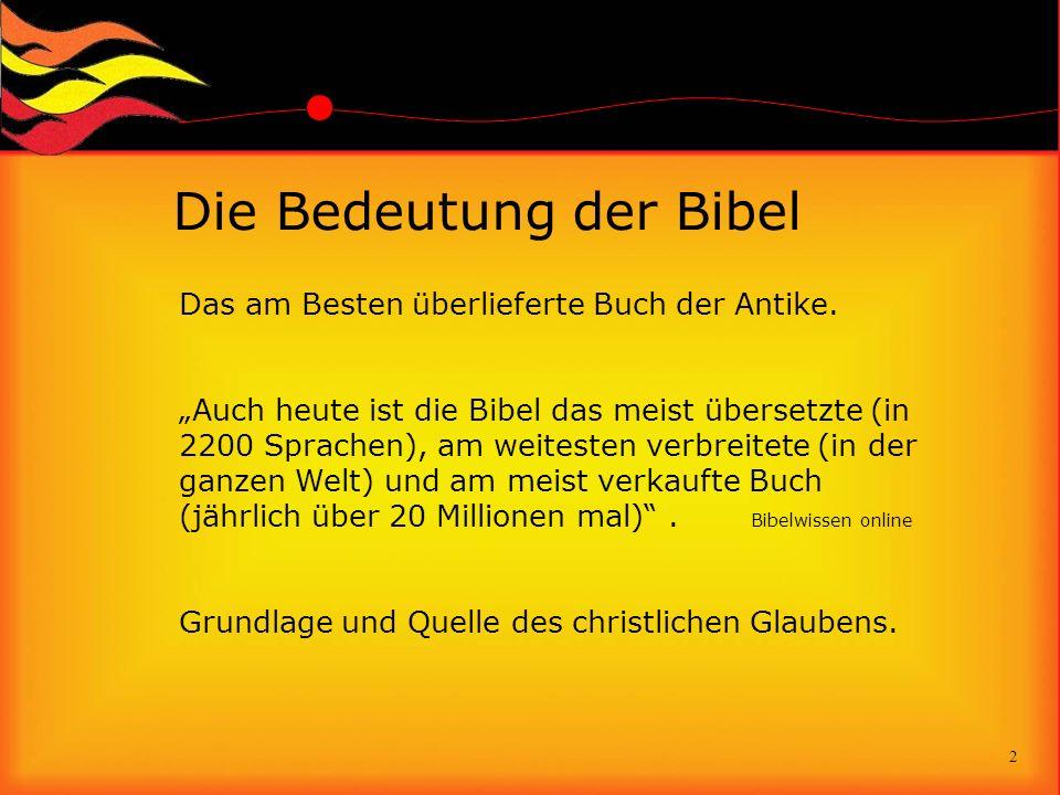 Die Bedeutung der Bibel