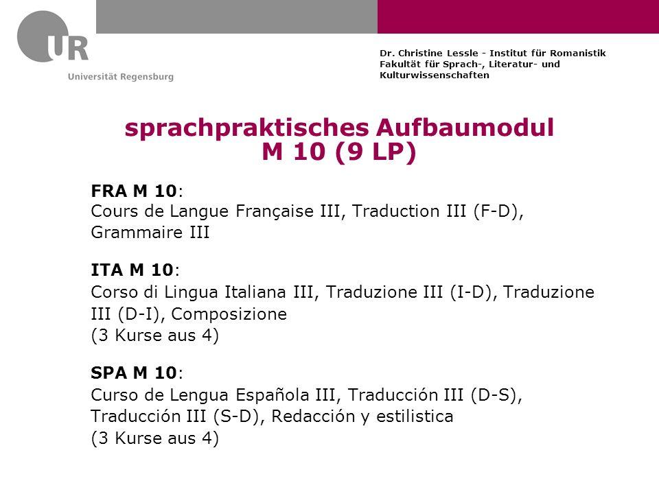 sprachpraktisches Aufbaumodul M 10 (9 LP)