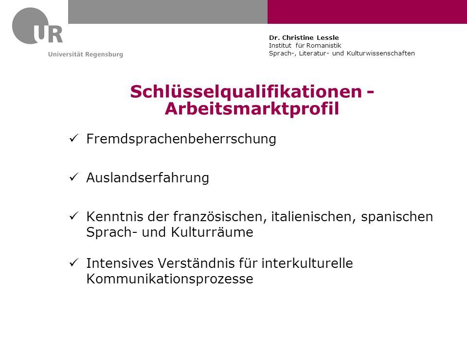 Schlüsselqualifikationen - Arbeitsmarktprofil
