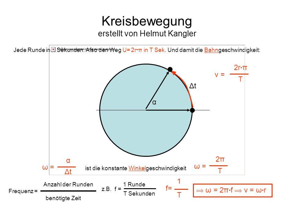 Kreisbewegung erstellt von Helmut Kangler