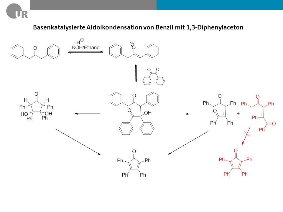 Basenkatalysierte Aldolkondensation von Benzil mit 1,3-Diphenylaceton