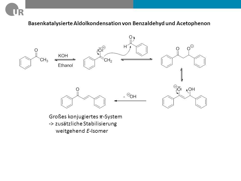Basenkatalysierte Aldolkondensation von Benzaldehyd und Acetophenon