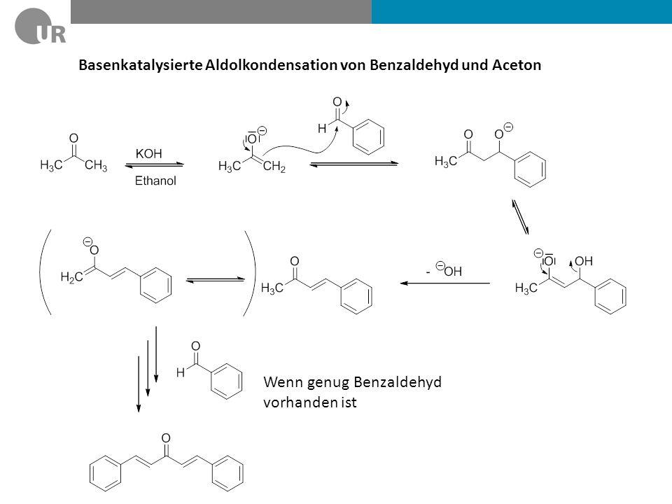 Basenkatalysierte Aldolkondensation von Benzaldehyd und Aceton