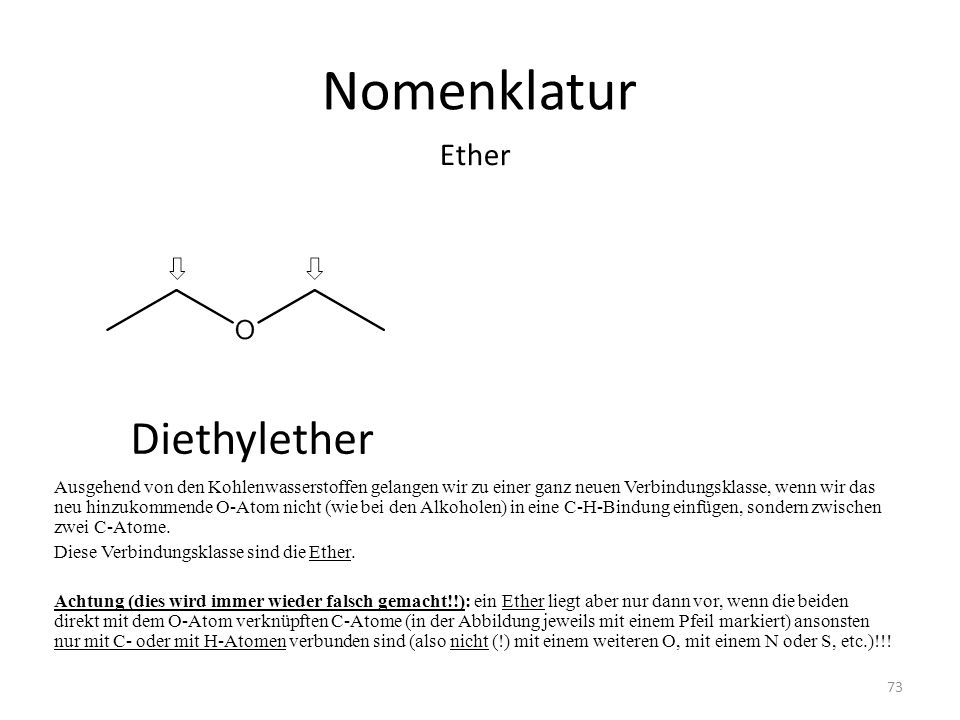 Nomenklatur Diethylether Ether