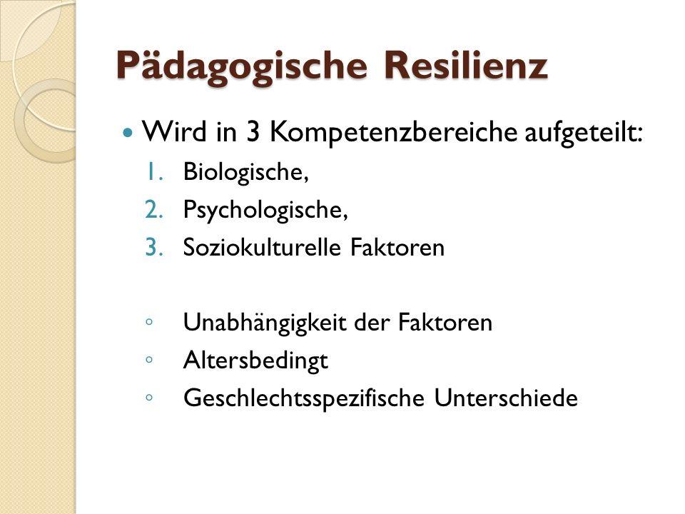 Pädagogische Resilienz