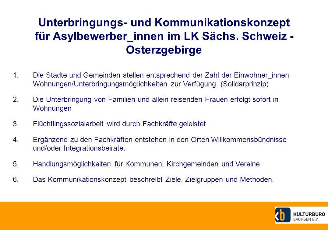 Unterbringungs- und Kommunikationskonzept für Asylbewerber_innen im LK Sächs. Schweiz - Osterzgebirge