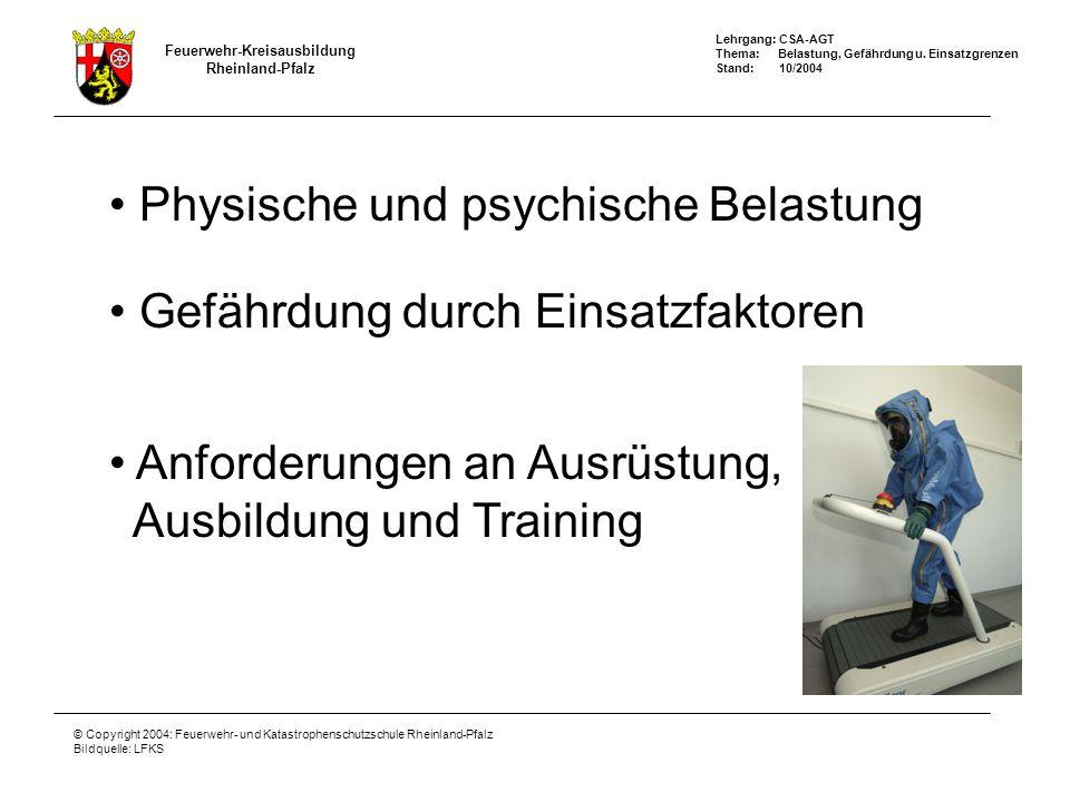 Physische und psychische Belastung