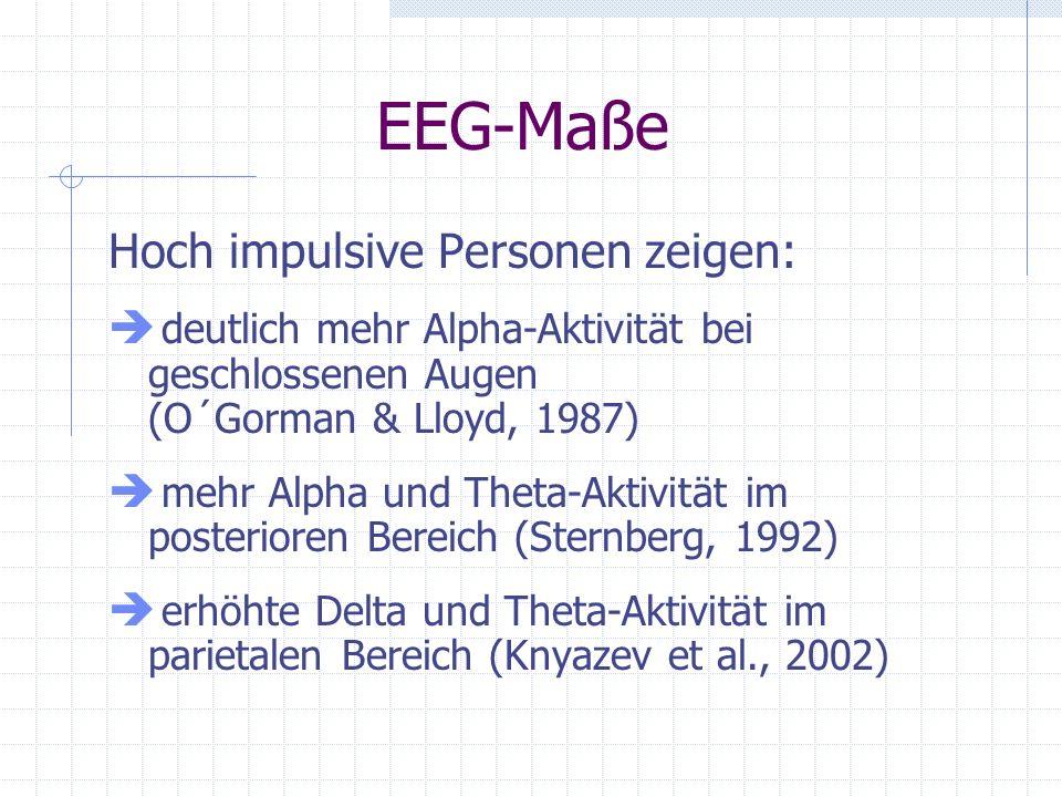EEG-Maße Hoch impulsive Personen zeigen: