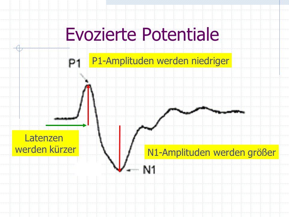 Evozierte Potentiale P1-Amplituden werden niedriger Latenzen
