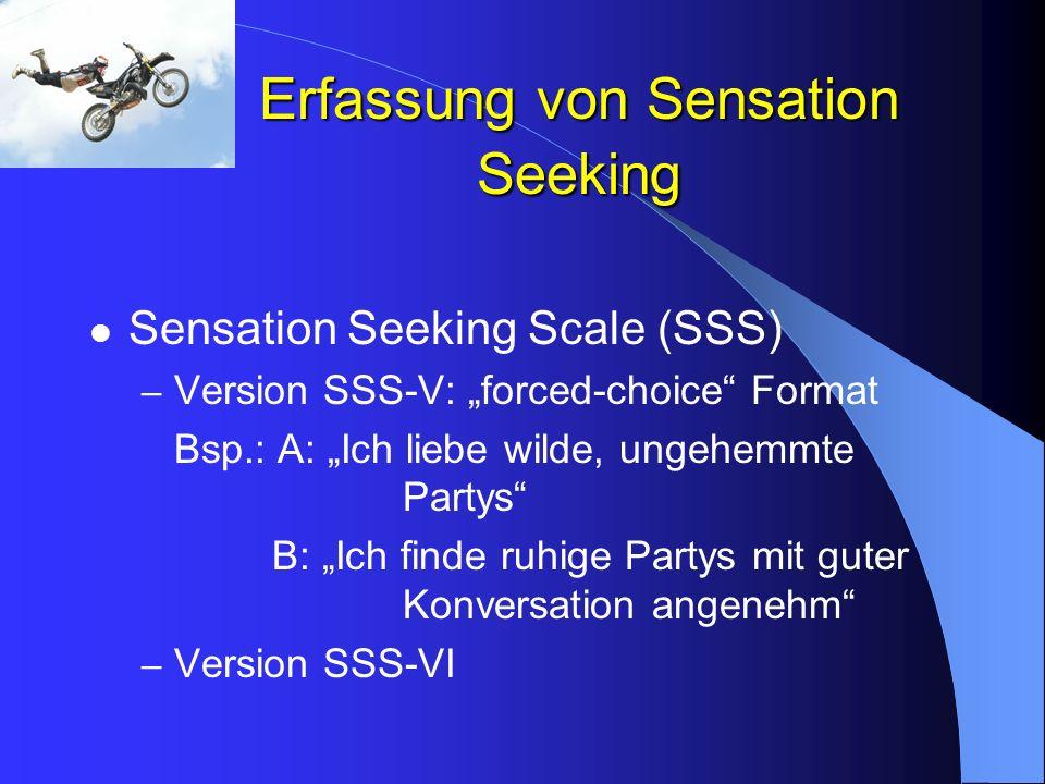 Erfassung von Sensation Seeking