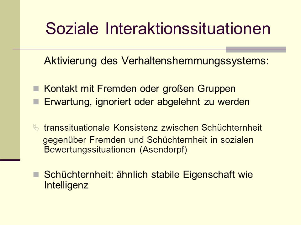Soziale Interaktionssituationen