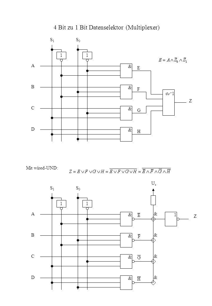 4 Bit zu 1 Bit Datenselektor (Multiplexer)