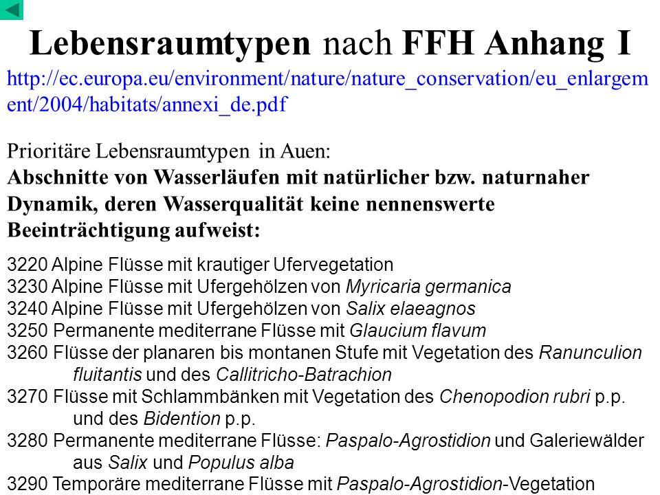Lebensraumtypen nach FFH Anhang I