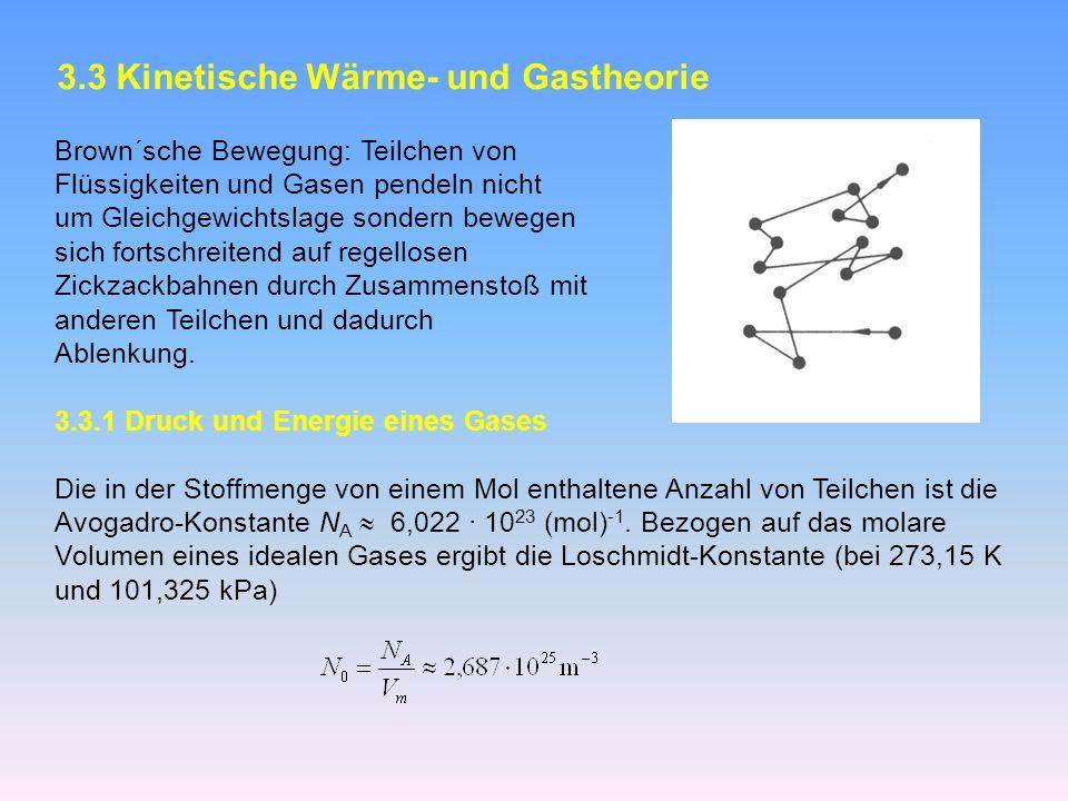3.3 Kinetische Wärme- und Gastheorie