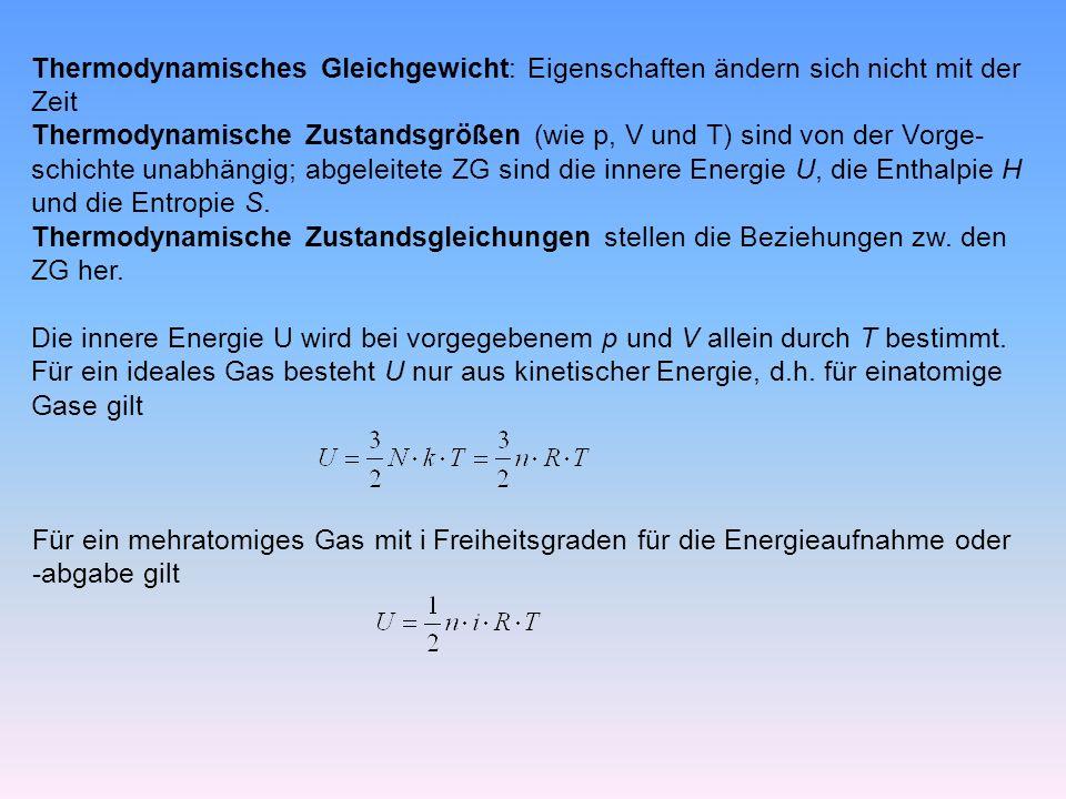 Thermodynamisches Gleichgewicht: Eigenschaften ändern sich nicht mit der
