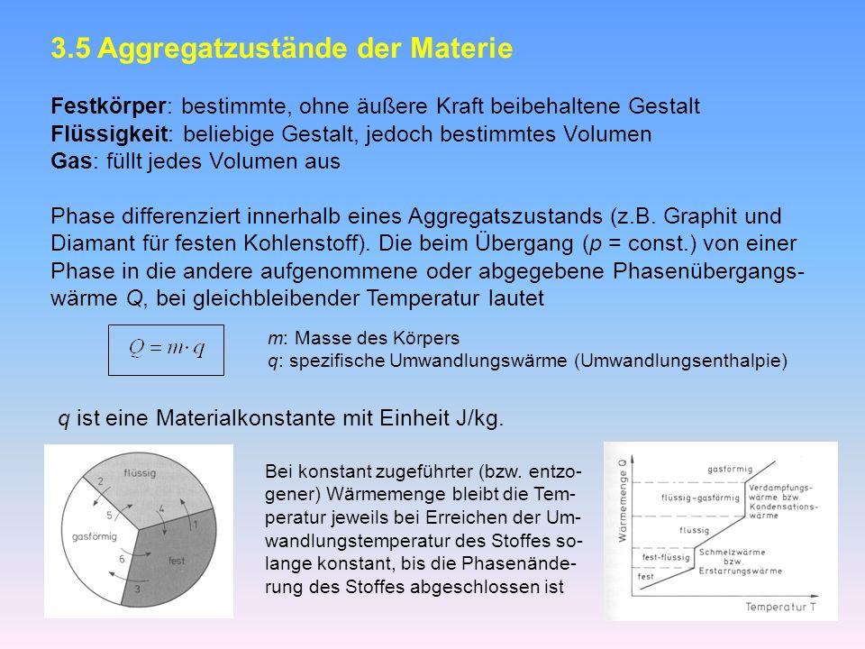 3.5 Aggregatzustände der Materie