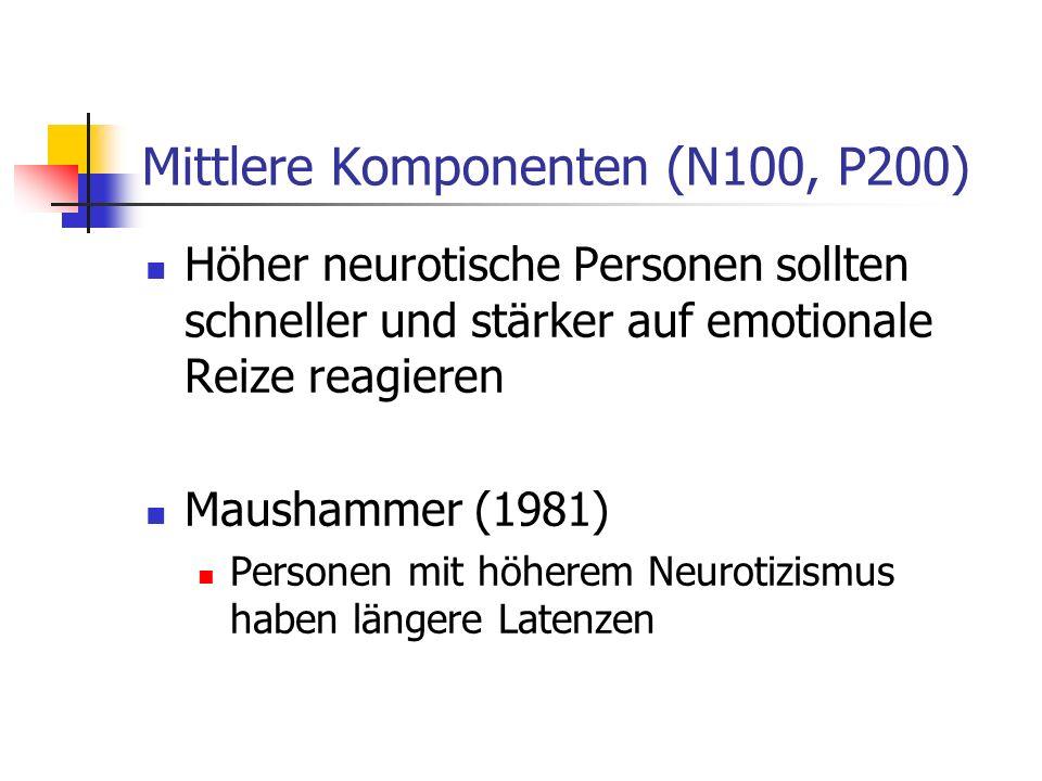 Mittlere Komponenten (N100, P200)