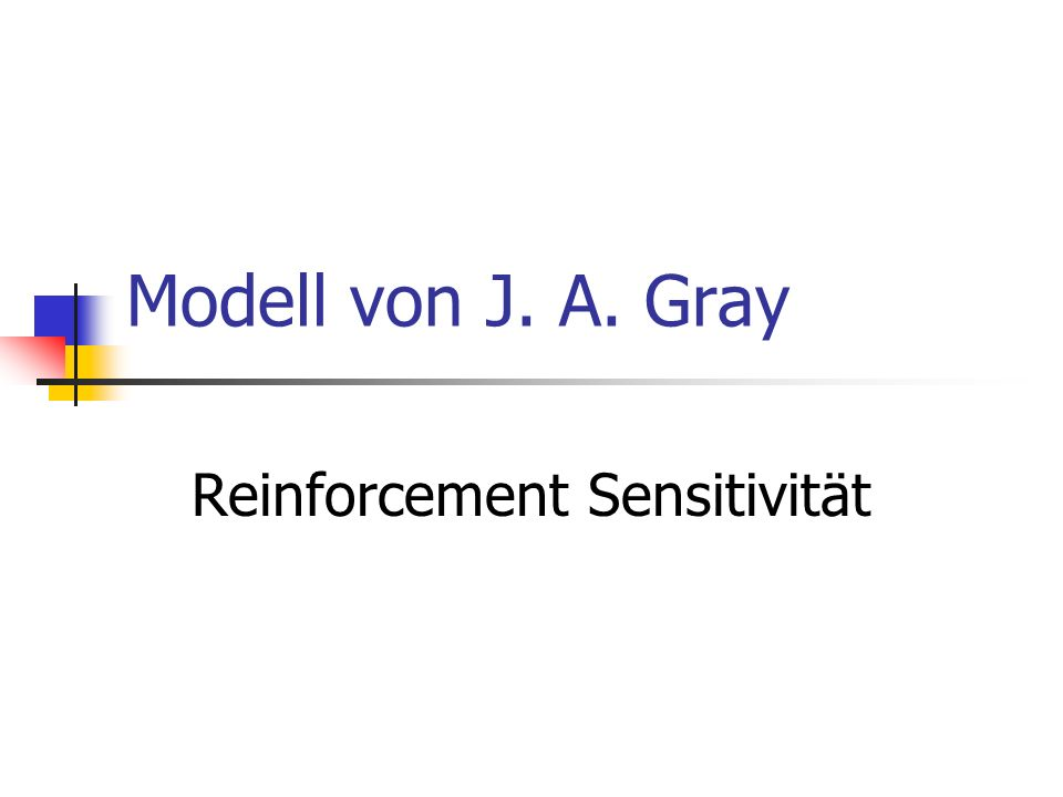 Reinforcement Sensitivität