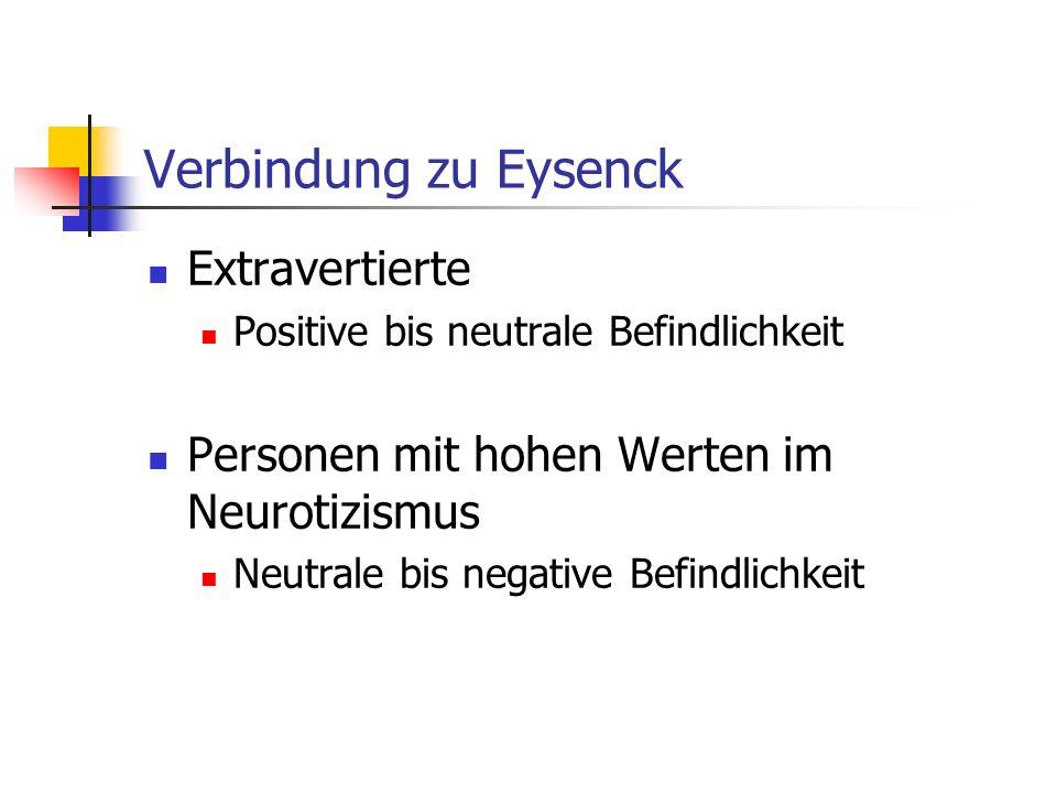 Verbindung zu Eysenck Extravertierte