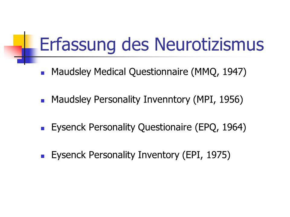 Erfassung des Neurotizismus