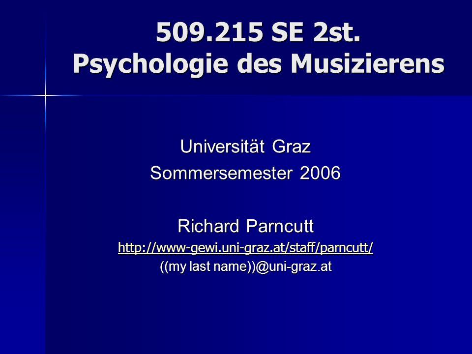 509.215 SE 2st. Psychologie des Musizierens