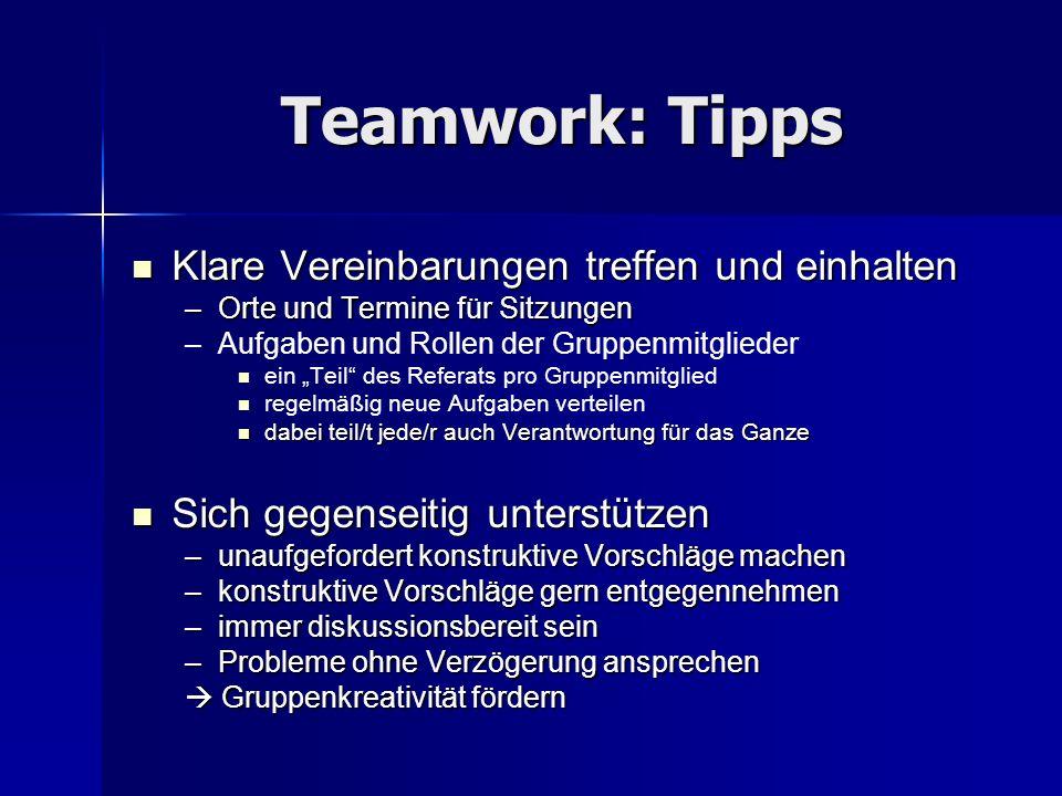 Teamwork: Tipps Klare Vereinbarungen treffen und einhalten
