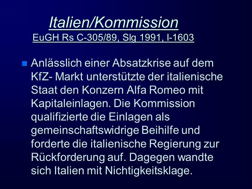 Italien/Kommission EuGH Rs C-305/89, Slg 1991, I-1603