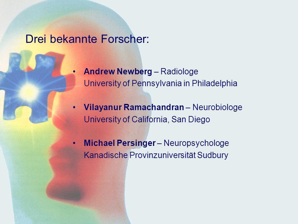Drei bekannte Forscher: