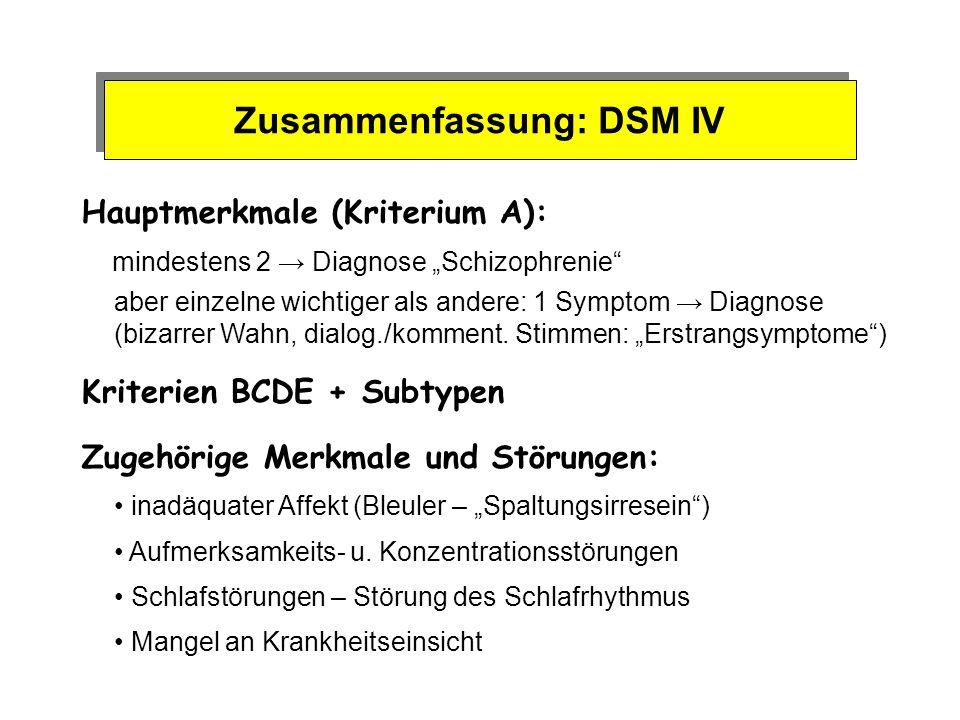 Zusammenfassung: DSM IV