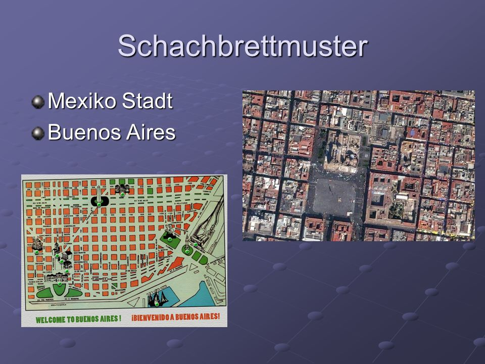 Schachbrettmuster Mexiko Stadt Buenos Aires