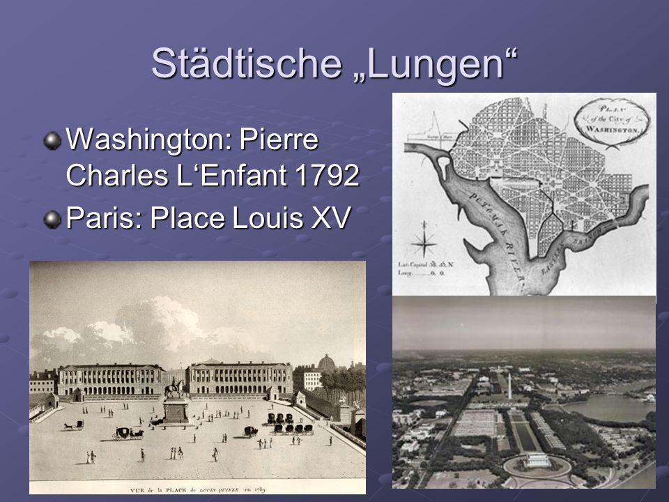 """Städtische """"Lungen Washington: Pierre Charles L'Enfant 1792"""