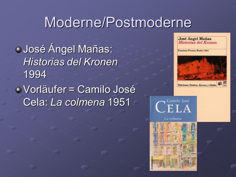 Moderne/Postmoderne José Ángel Mañas: Historias del Kronen 1994