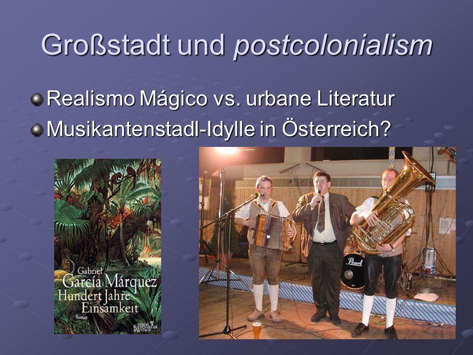 Großstadt und postcolonialism
