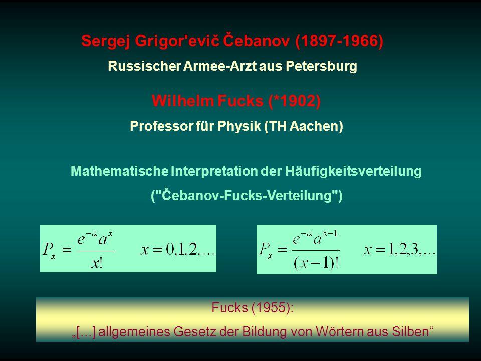 Sergej Grigor evič Čebanov (1897-1966) Wilhelm Fucks (*1902)
