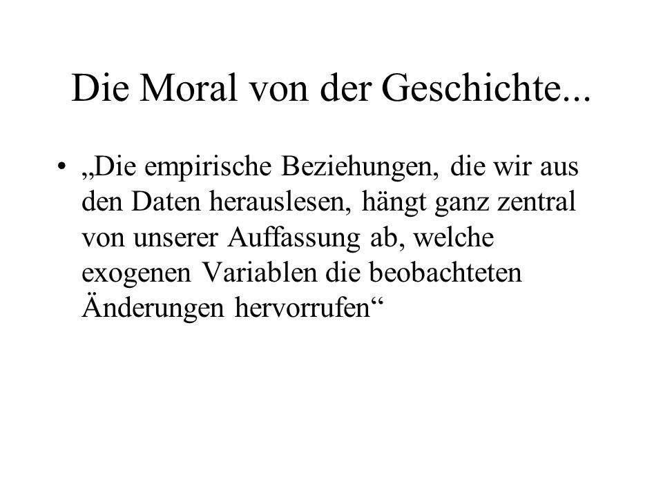 Die Moral von der Geschichte...