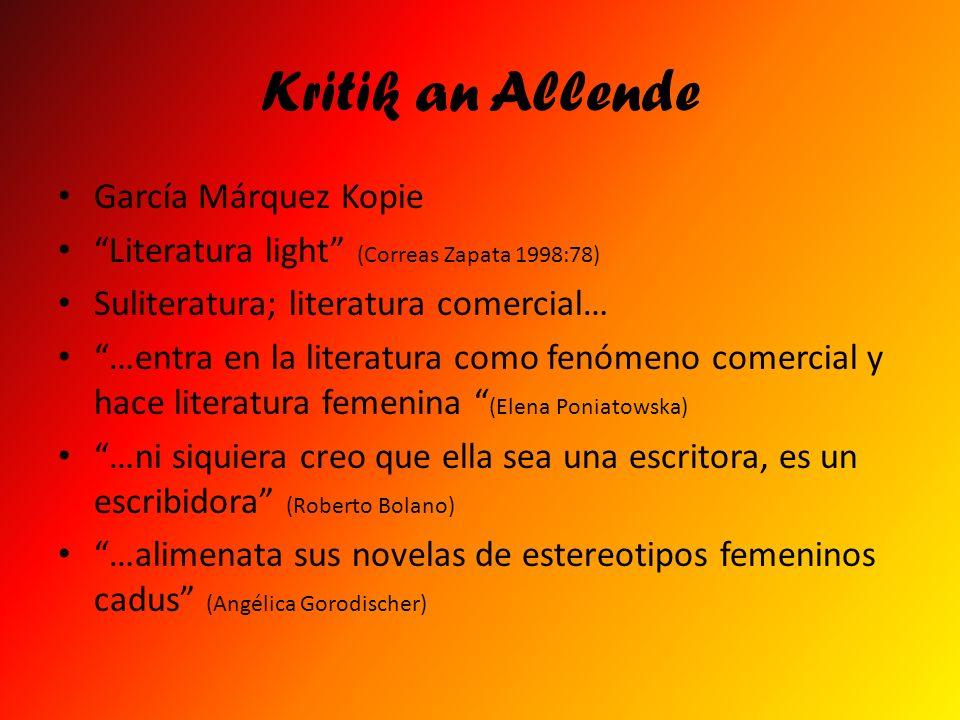 Kritik an Allende García Márquez Kopie