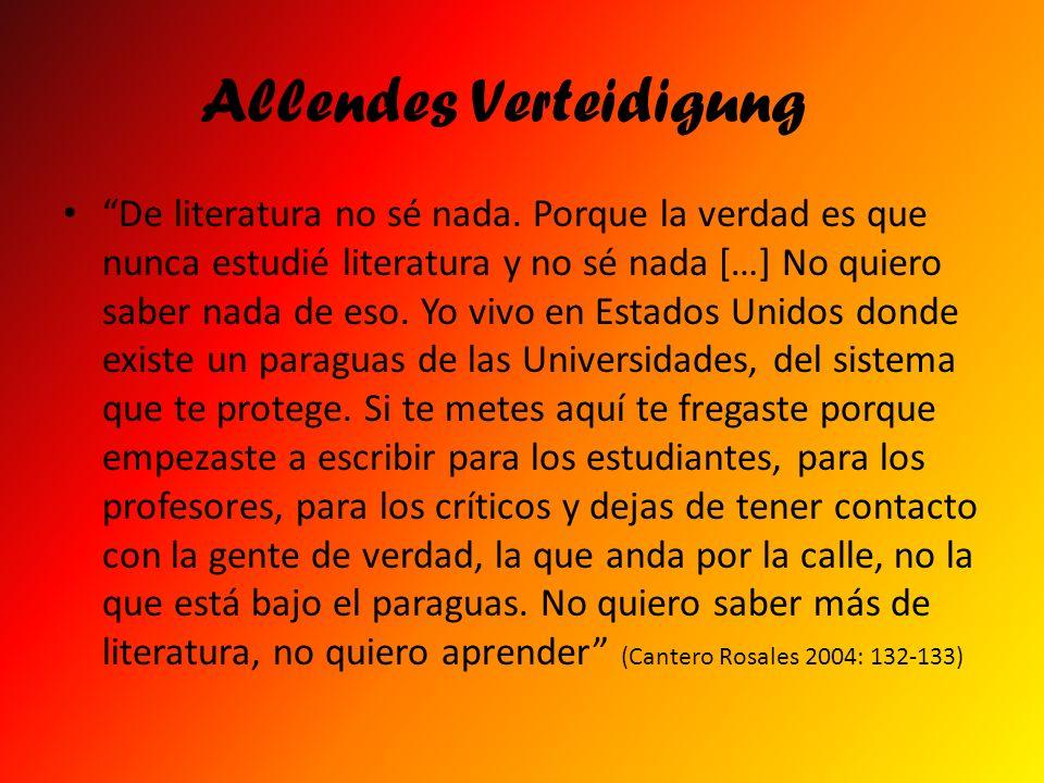 Allendes Verteidigung