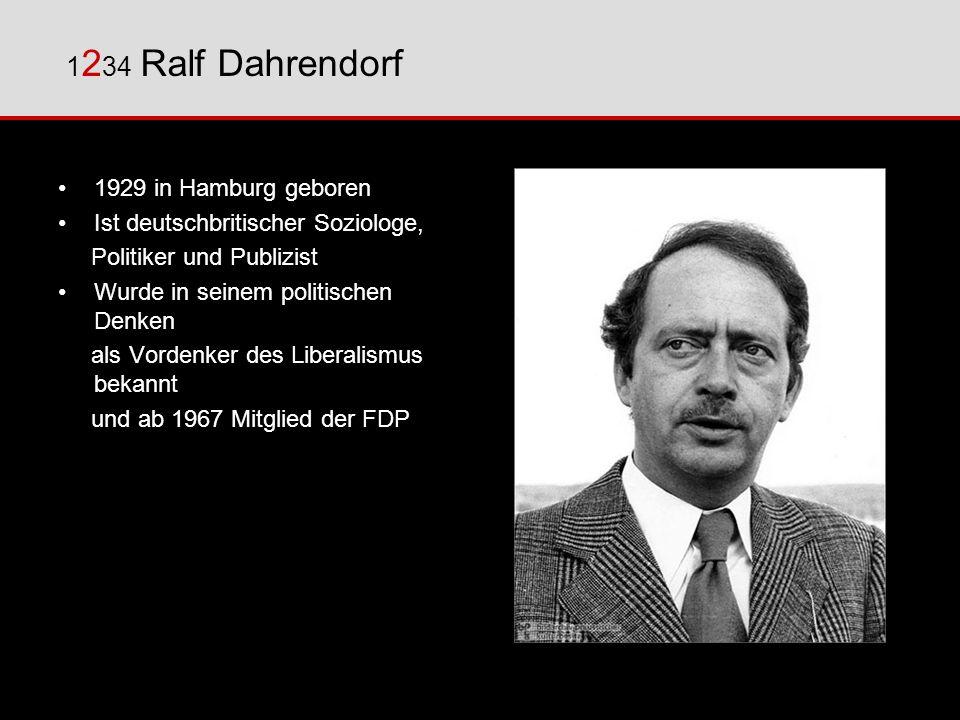 1234 Ralf Dahrendorf 1929 in Hamburg geboren