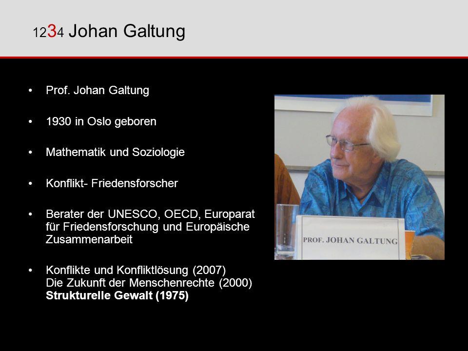 1234 Johan Galtung Prof. Johan Galtung 1930 in Oslo geboren