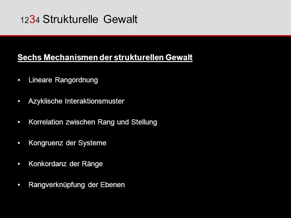 Sechs Mechanismen der strukturellen Gewalt