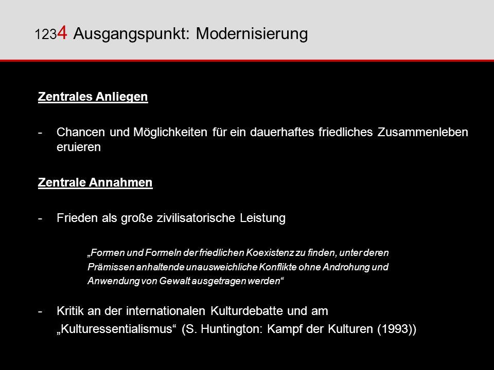 1234 Ausgangspunkt: Modernisierung